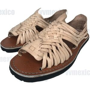 MENS TRADITIONAL LEATHER HUARACHE MEXICAN SANDALS